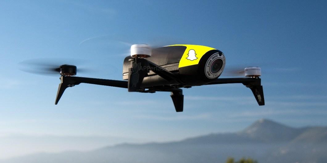 Snapchat en bolsa y con DRON