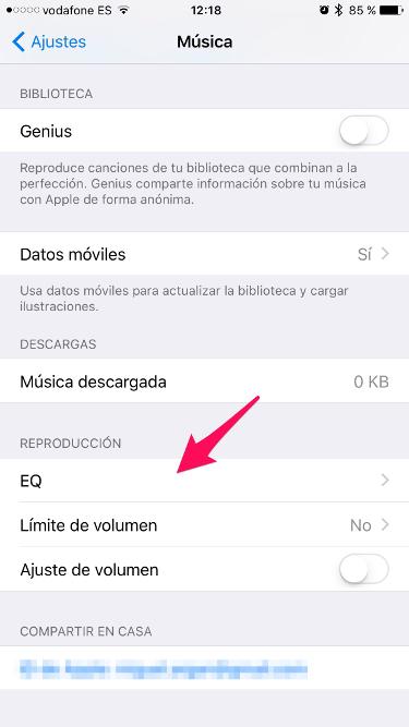 ecualizador del iPhone 1