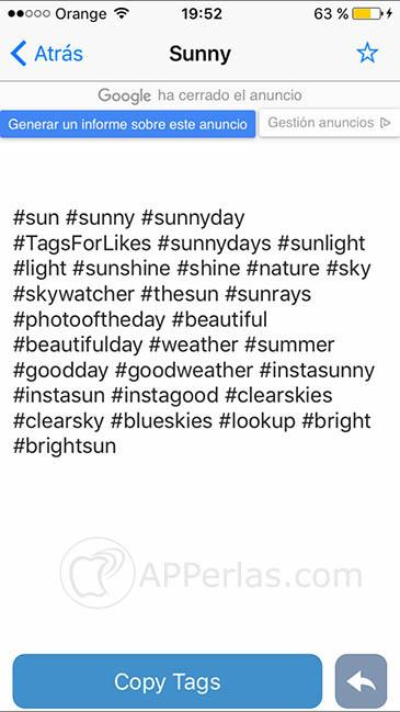 apps para Instagram Tagsforlikes 2