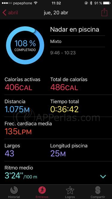 Mejor reloj para natación Apple Watch 5