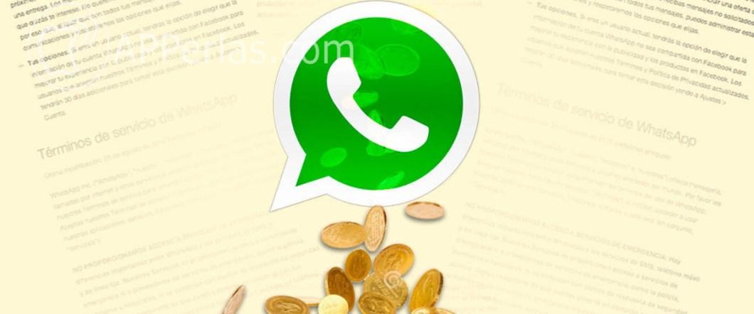 dinero por WhatsApp
