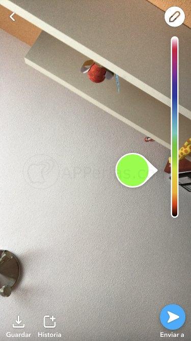 App snapchat más gama de colores