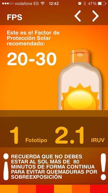 app protección solar Infosun