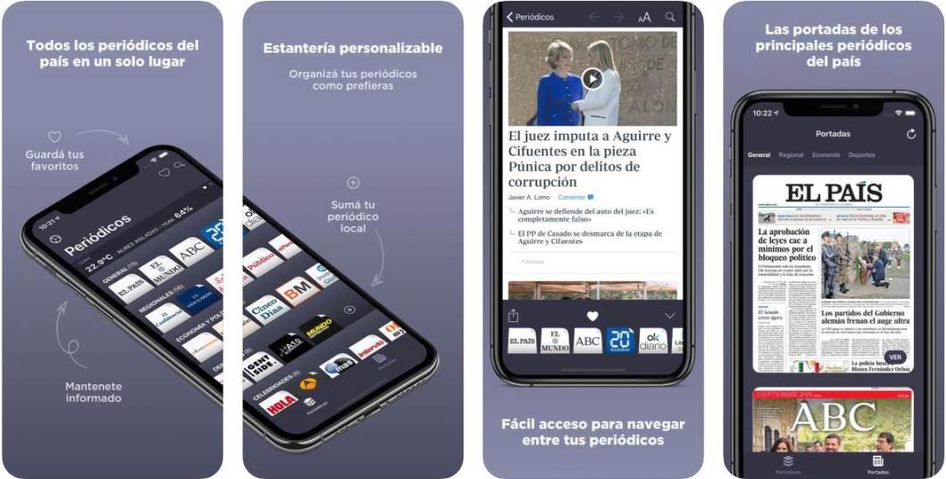 Capturas de pantalla de la la app