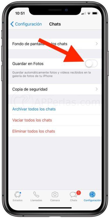 Desactivar descarga automática de fotos y vídeos