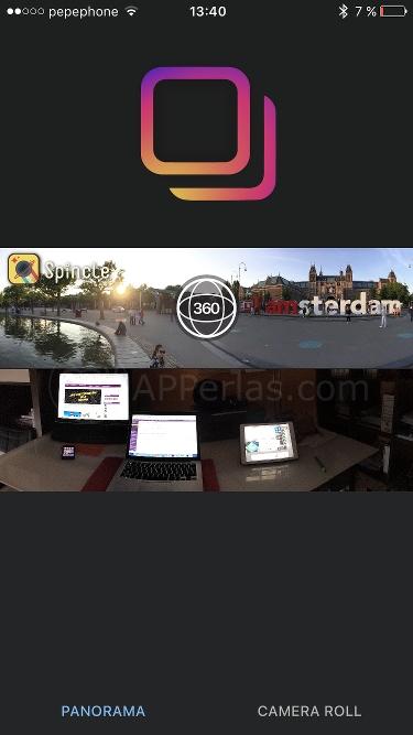 Subir fotos panorámicas a Instagram 1