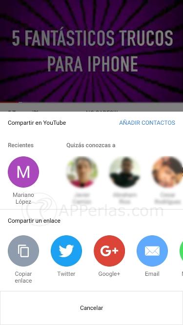 Compartir vídeos mediante chat