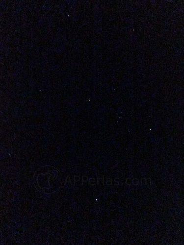 Estrellas fotografiadas desde un iPhone
