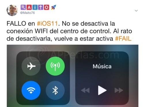 Supuesto fallo de iOS 11
