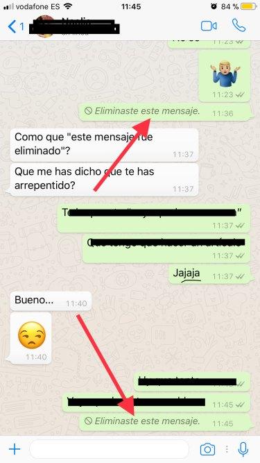 eliminar mensajes en WhatsApp 3
