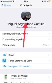 Cambia la foto de perfil de iCloud desde el mismo iPhone
