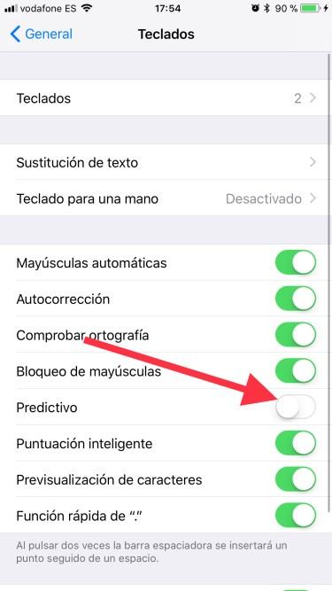 teclado del iPhone 2