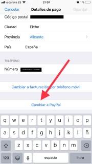 Paga con PayPal en la App Store cambiando la forma de pago normal