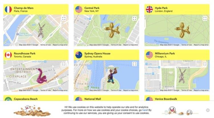 Esculturas de Snapchat por el mundo