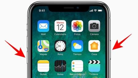 apagar el iPhone X 1