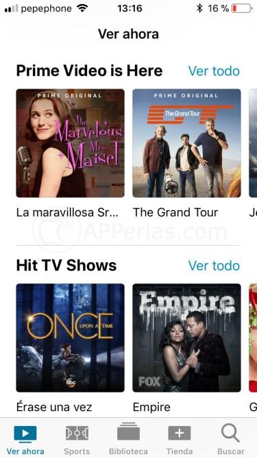 App TV para iPhone y iPad