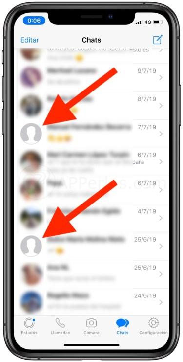Lista de contactos de Whatsapp