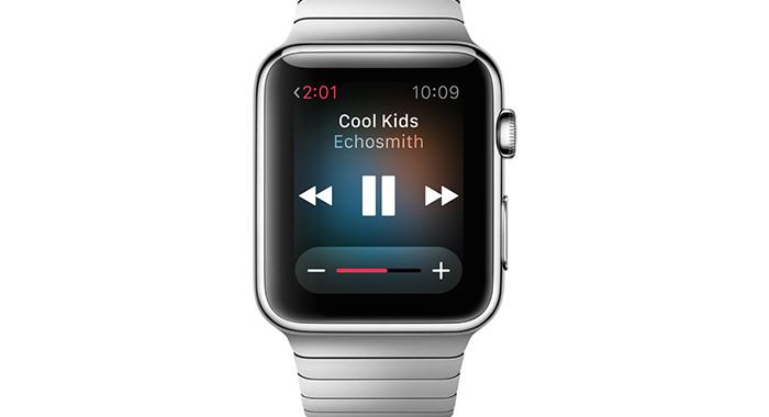 Reproductor de música en Apple Watch
