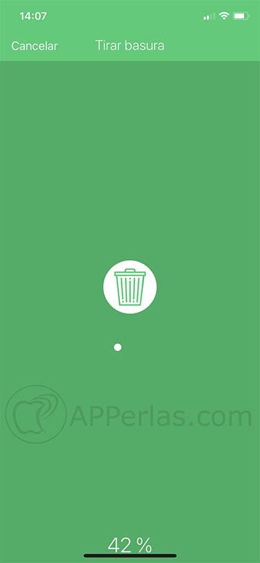 vacía espacio desde el iPhone Magic Cleaner 2