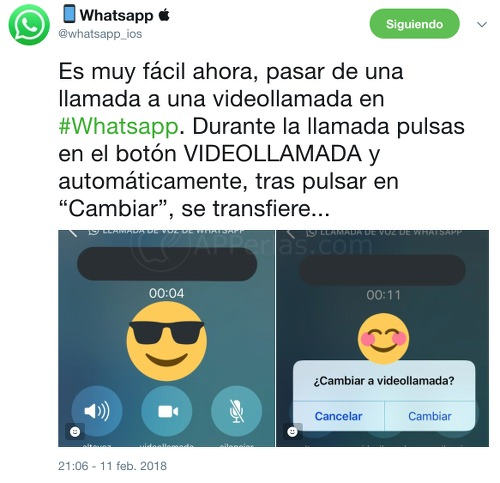 Tweet de Whatsapp_iOS
