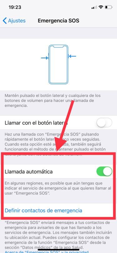 emergencia en el iPhone 2