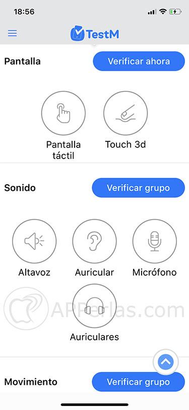 estado del iPhone TestM 3