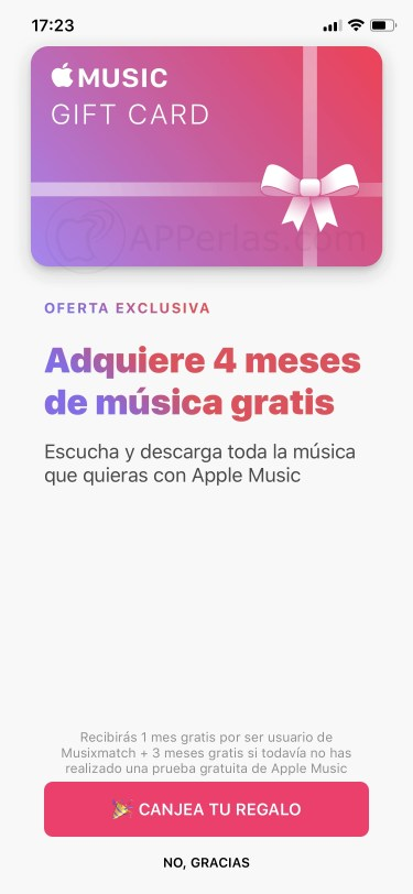 Apple music gratis iOS