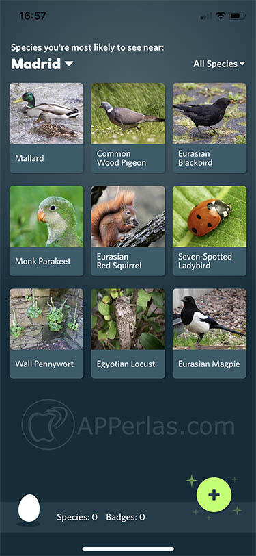 descubrir especies Seek by inaturalist 3