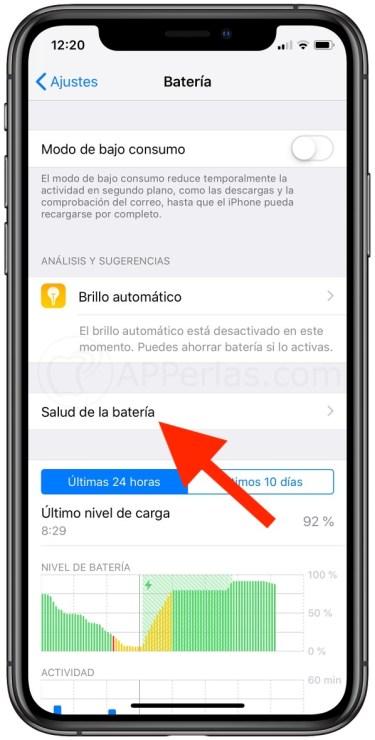 Ajustes de iPhone