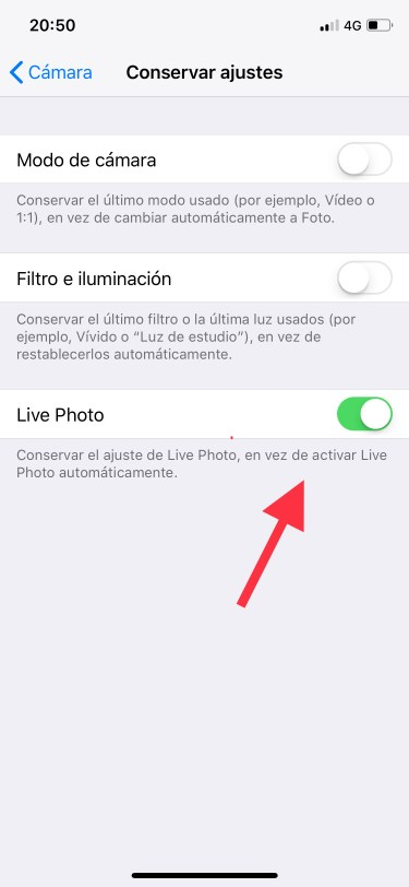 app cámara del iPhone 2