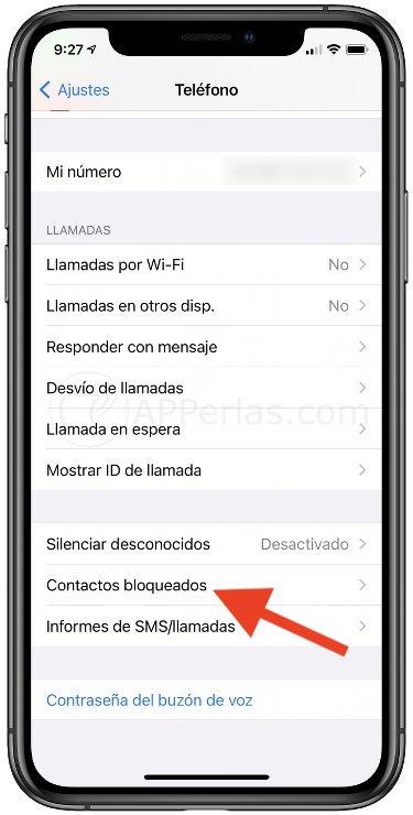 Bloquear contactos en iPhone