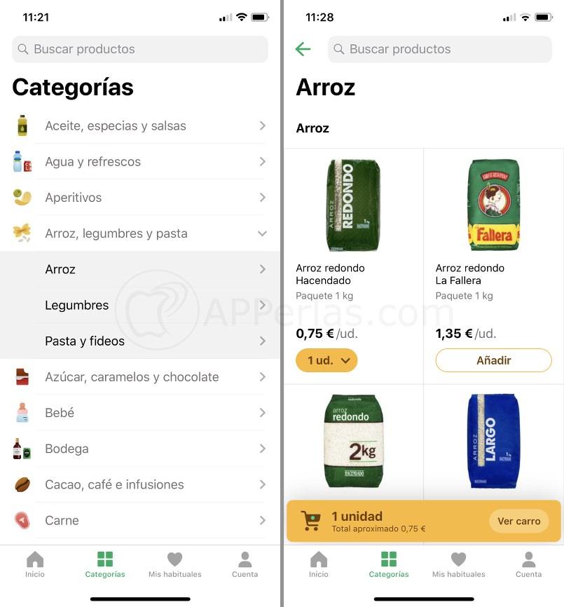 Comprar con la app de Mercadona
