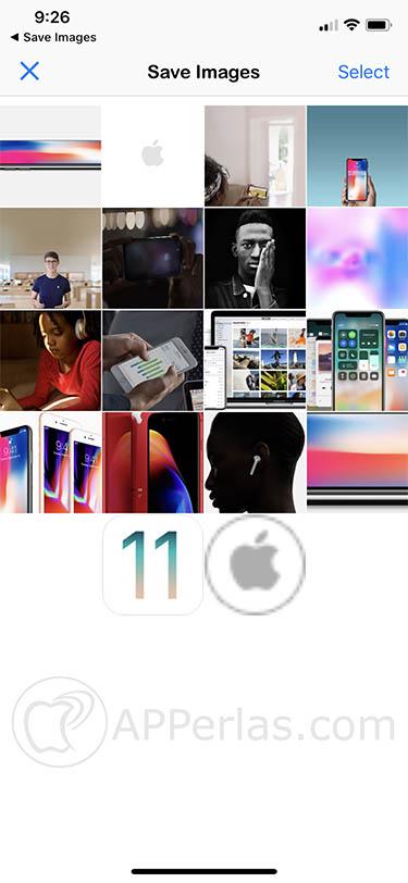 descargar muchas imágenes iOS Save images 1