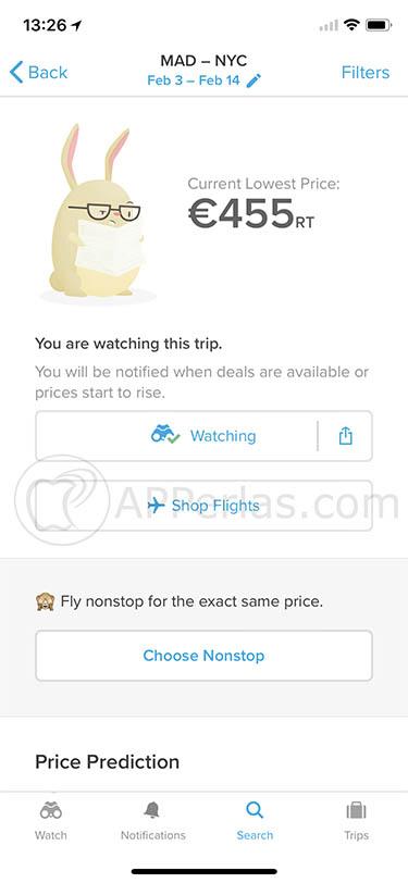 comprar vuelos baratos app hopper 2