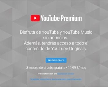 Ya tenemos disponible Youtube Premium y Youtube Music. ¡¡¡GRATIS 3 MESES!!!