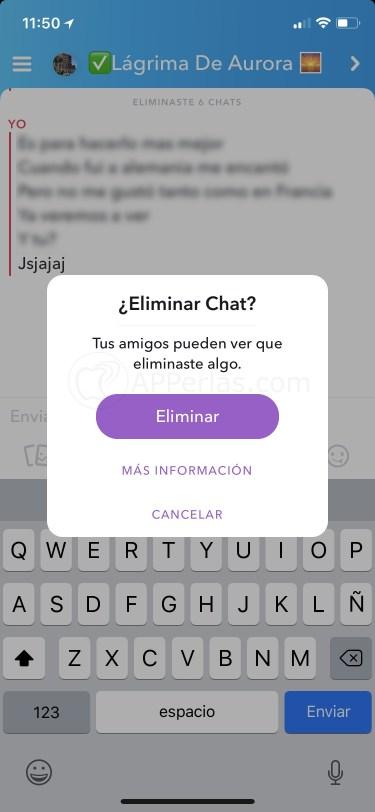 Aviso de Snapchat