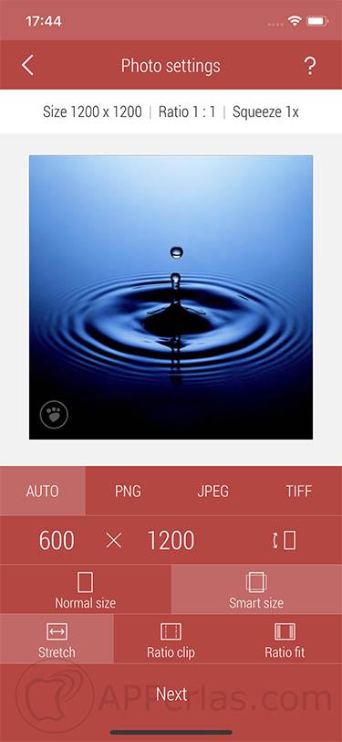 cambiar el formato de las fotos app 3