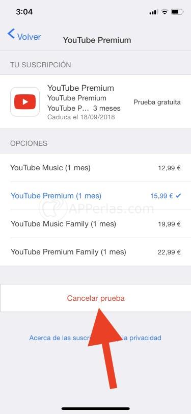 Cancelar suscripción a Youtube PREMIUM o MUSIC