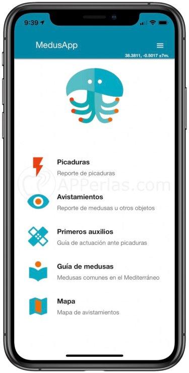 Pantalla principal de MedusApp