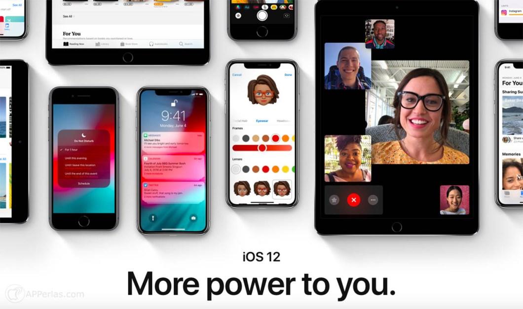 las novedades de iOS 12 1