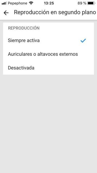 YouTube Premium en segundo plano 2