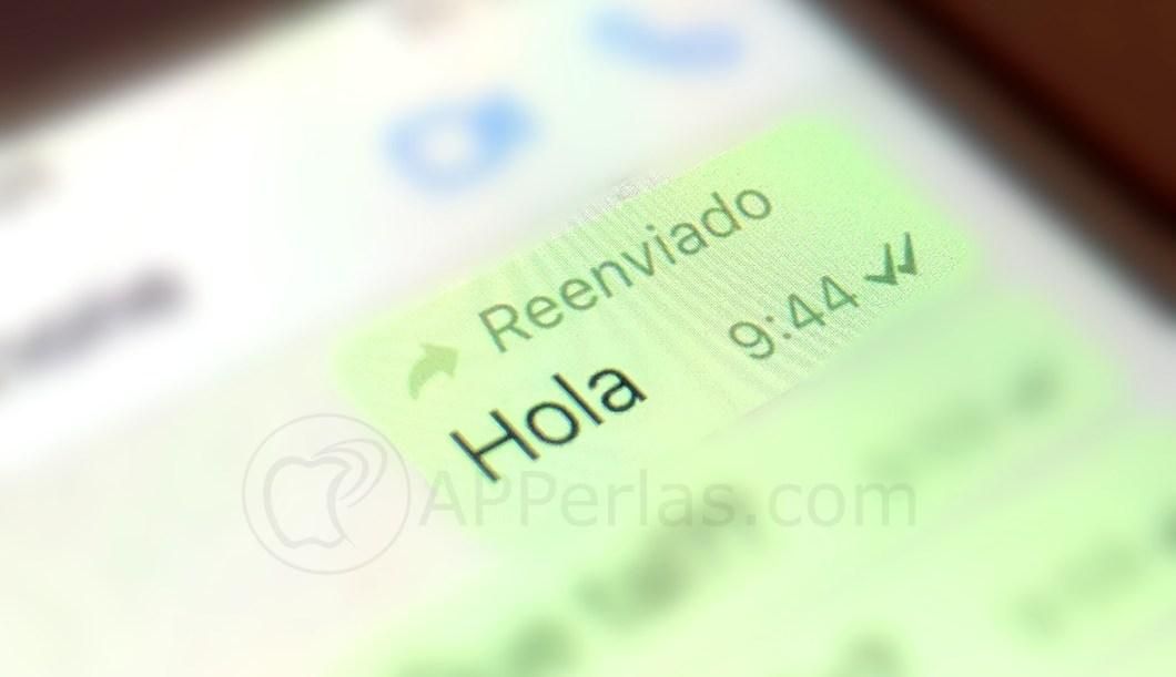 Mensaje reenviado por Whatsapp