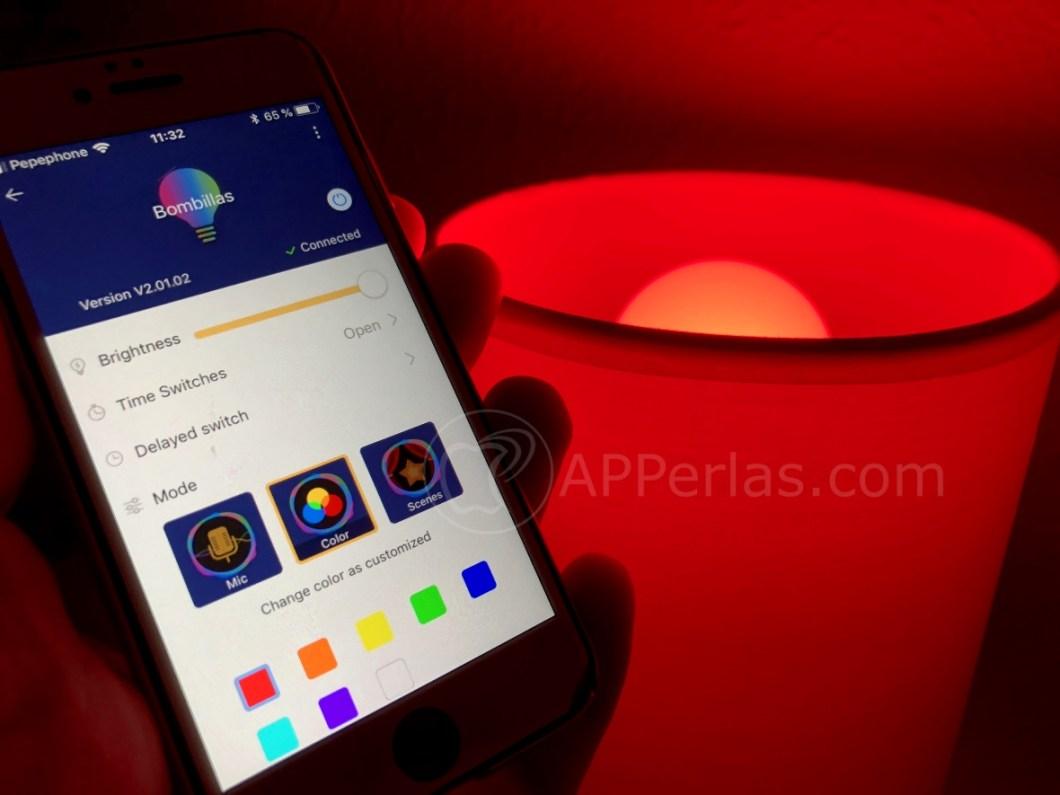 Bombilla led de colores para iPhone