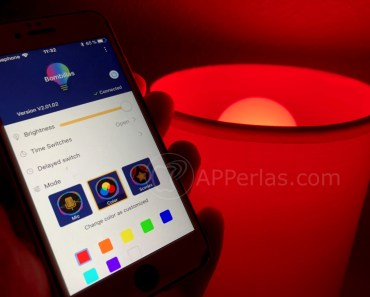 Bombilla led de colores controlada desde el iPhone. ¡¡¡BUENA COMPRA!!!