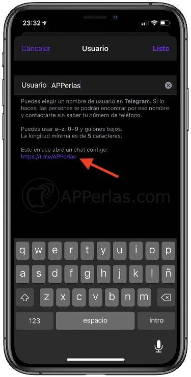Enlace de Telegram