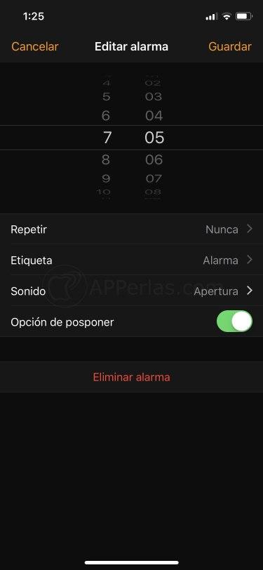 Ponle nombre a cada alarma del iPhone