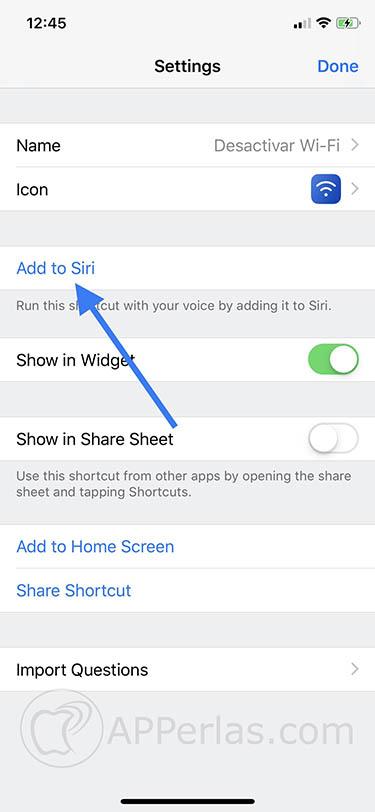 Crear atajos de Siri 4
