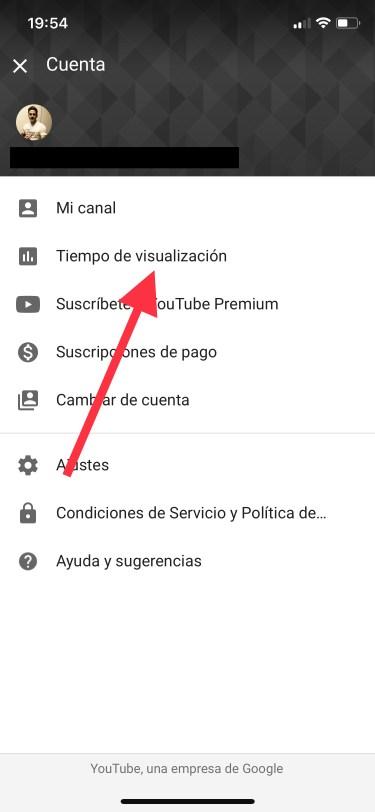 tiempo que pasas en YouTube 1