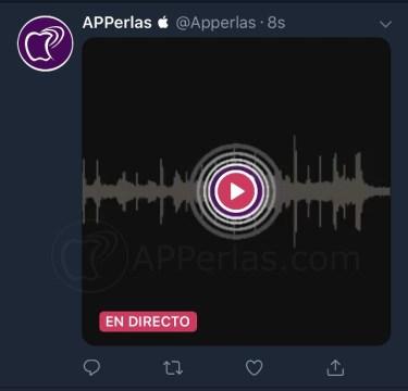 Transmisión de audio en directo por Twitter