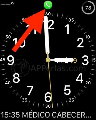 Icono de llamada en el Apple Watch